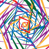 Colorful random edgy pattern. Random overlapping shapes forming Royalty Free Stock Images