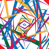 Colorful random edgy pattern. Random overlapping shapes forming Royalty Free Stock Image
