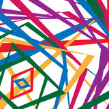 Colorful random edgy pattern. Random overlapping shapes forming Stock Images