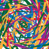Colorful random edgy pattern. Random overlapping shapes forming Stock Photography