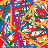 Colorful random edgy pattern. Random overlapping shapes forming Royalty Free Stock Photo
