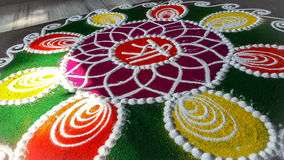 Colorful Rangoli Art. Royalty Free Stock Photo