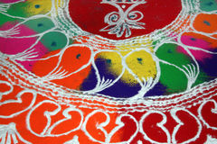 Colorful Rangoli Design Royalty Free Stock Photo