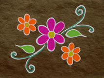 Colorful Rangoli Royalty Free Stock Photo