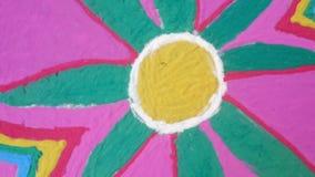 Colorful rangoli on festival season stock video