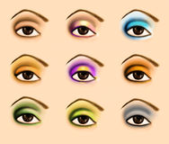 Colorful raster make up illustration Stock Photography