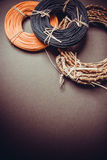 Colorful rattan rolls Royalty Free Stock Photos