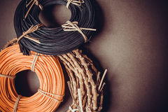 Colorful rattan rolls Royalty Free Stock Image
