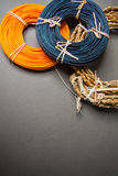 Colorful rattan rolls Royalty Free Stock Photo