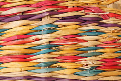 Colorful rattan wicker pattern Stock Photography