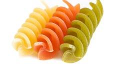 Colorful raw fusilli macaroni Stock Photography