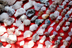 Colorful raw gemstones Royalty Free Stock Images