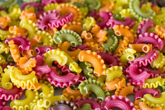 Colorful raw pasta. Stock Photo