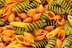 Colorful Raw Pasta Royalty Free Stock Photography