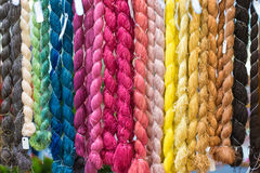 Colorful raw silk thread Stock Image