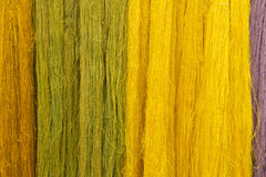 Colorful of Raw silk thread for background Stock Photography