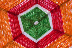 Colorful of Raw silk thread for background Royalty Free Stock Image