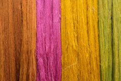 Colorful of Raw silk thread for background Royalty Free Stock Photo