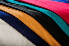 Colorful of Raw silk thread for background. Royalty Free Stock Images