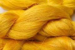 Colorful raw silk thread Royalty Free Stock Photos