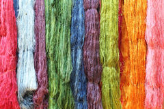 Colorful raw silk thread Stock Photo