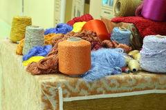 Colorful raw silk thread Royalty Free Stock Photo