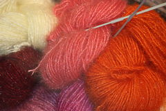 Colorful raw wool Royalty Free Stock Photo