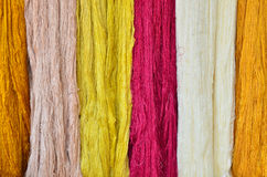 Colorful raw yarn Royalty Free Stock Images