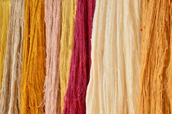 Colorful raw yarn Royalty Free Stock Image