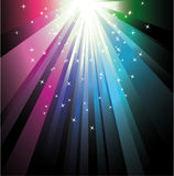 Colorful ray lights Royalty Free Stock Photography