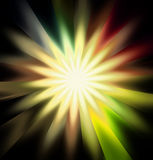 Colorful rays background. Colorful light rays or light explosion background Royalty Free Stock Photography