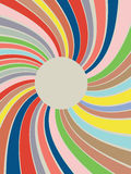Colorful Rays Background. Abstract art colorful lines, retro background with rays stock illustration