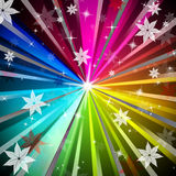 Colorful Rays Background Means Light Radiating And Flowers Royalty Free Stock Photography