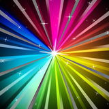 Colorful Rays Background Shows Brightness Rainbow And Radiating Royalty Free Stock Images