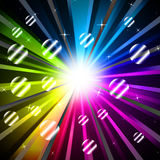 Colorful Rays Background Shows Glowing And Party Royalty Free Stock Photography