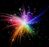 Colorful rays explosion Stock Photography