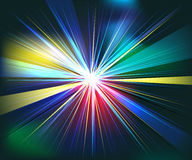Colorful rays explosion futuristic technology  Royalty Free Stock Images