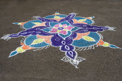 Colorful Rays of Rangoli Royalty Free Stock Photos