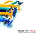 Colorful razor. Isolate on white background Royalty Free Stock Photos