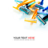 Colorful razor Stock Photo