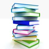 Colorful real books Stock Photography