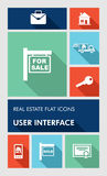 Colorful real estate UI apps user interface flat i Royalty Free Stock Photo