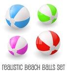 Colorful realistic beach ball vector illustration. Stock Photo