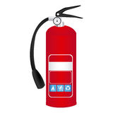 Colorful realistic fire extinguisher icon. Illustration Royalty Free Stock Image