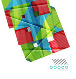 Colorful realistic geometric shape design template Royalty Free Stock Image