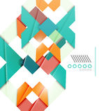 Colorful realistic geometric shape design template Royalty Free Stock Photography