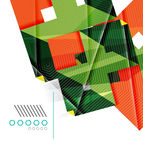 Colorful realistic geometric shape design template Royalty Free Stock Photo