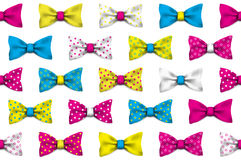 Colorful realistic vector bow ties seamless pattern. Background illustration Stock Image