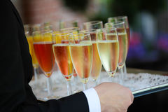 Colorful reception glasses Stock Photography