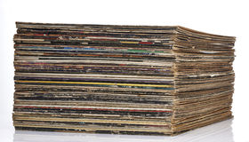 Colorful record collection Royalty Free Stock Photos